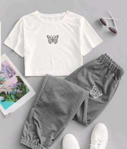 ZF010 2pcs butterfly sporty set