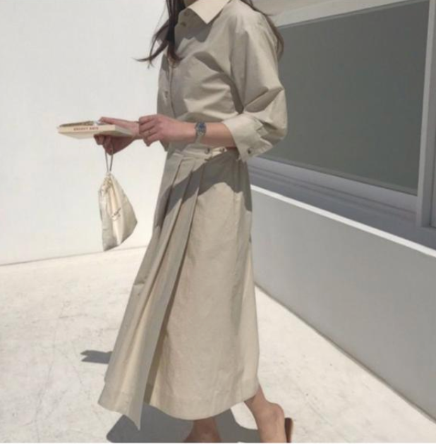 Korea Chic Pleated Dress