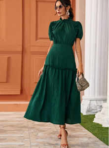 Ruffle A-Line Long Dress