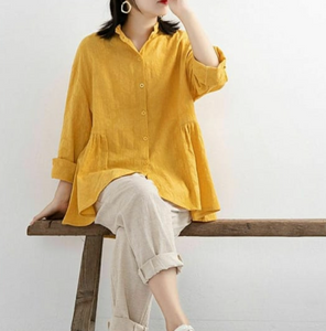 Yellow Loose Blouse