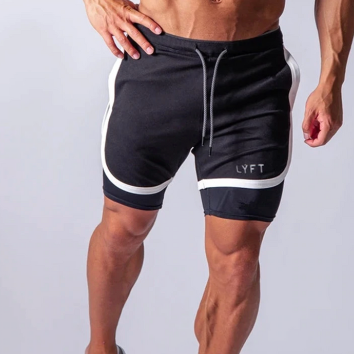 GS901 New Quick Dry 2 IN 1 Sport Shorts