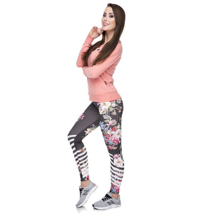 PL05 Multicolor Pattern 3D Printing legging