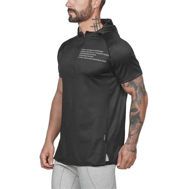 GT70 Zipper Neck Gym Hoodies