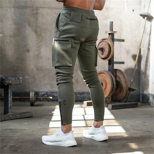 GP113 Casual Patchwork Cargo Sweatpants