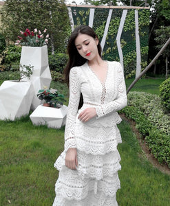High Quality Women's Elegant Layers Ruffles Dress