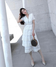 Load image into Gallery viewer, High Quality Women's Elegant Layers Ruffles Dress