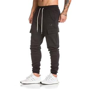 GS803 Cotton Sweatpants Cargo Pocket Style