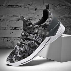 MS903 Camo Pattern Walking Sneakers