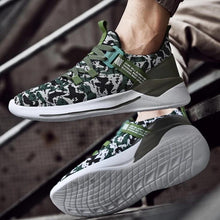 Load image into Gallery viewer, MS903 Camo Pattern Walking Sneakers