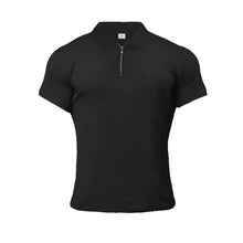 Load image into Gallery viewer, GT201 Zip Muscle Silm Polo Shirt