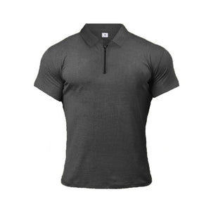 GT201 Zip Muscle Silm Polo Shirt