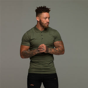 GT202 New Slim Cotton Muscle Polo Tshirt