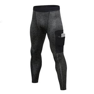 Atheletic Design Compression Leggings  With Pocket