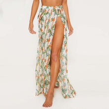 Load image into Gallery viewer, Long Leaves Print Bikini Cover up Robe