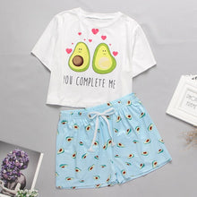 Load image into Gallery viewer, Cute Cartoon Print Short Set Pajamas