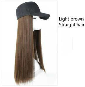 Long Synthetic Baseball Cap Wig