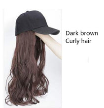 Load image into Gallery viewer, Long Synthetic Baseball Cap Wig