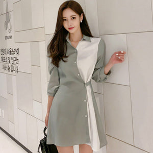 Patchwork Irregular Mini Dress