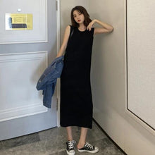 Load image into Gallery viewer, Solid Color Slim Knitted Summer Dress