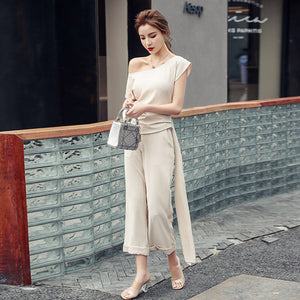 Summer Two Piece Off Shoulder Elegant Outfit