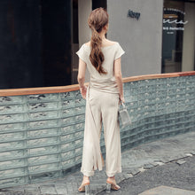 Load image into Gallery viewer, Summer Two Piece Off Shoulder Elegant Outfit
