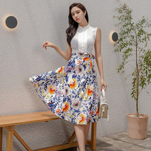 Load image into Gallery viewer, Summer Two Pieces Floral Dress Suit