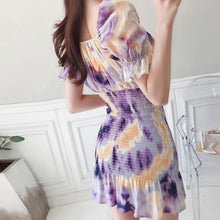 Load image into Gallery viewer, Elegant Slash neck Office Print Dress