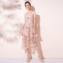 Load image into Gallery viewer, Sequin Lace Runway Dress