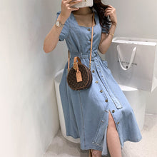Load image into Gallery viewer, Women Long Denim Dress