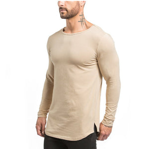 MT81 New Fashion Men Tops Muscle Slim Fit Sweatshirt