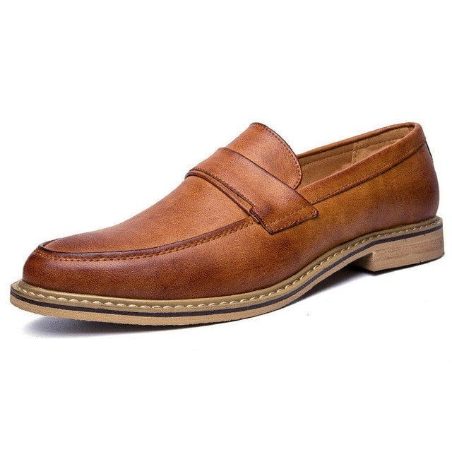 LS55 British Style Slip On Soft Moccasins Shoe