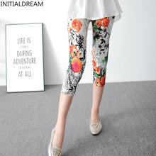 Load image into Gallery viewer, PL22 Elastic Printed Capri Leggings