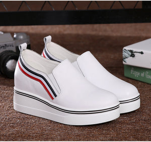 MFS13 Fashion Platform Casual Shoes Genuine Leather Slip on shoes