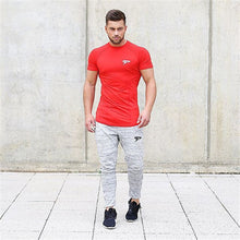 Load image into Gallery viewer, MT64 New Men's  Printed Elastic Tight Spandex Tees