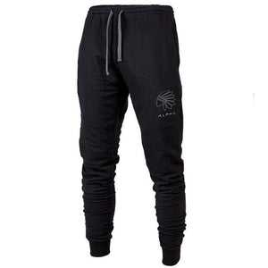 MP78 Men Fitness Gyms Full Length Embroidery Cotton Pants