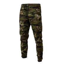 Load image into Gallery viewer, MP78 Men Fitness Gyms Full Length Embroidery Cotton Pants