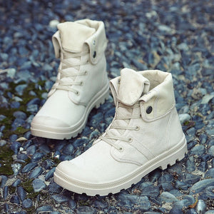 MB07 Canvas High Top Ankle Boot