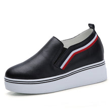 Load image into Gallery viewer, MFS13 Fashion Platform Casual Shoes Genuine Leather Slip on shoes