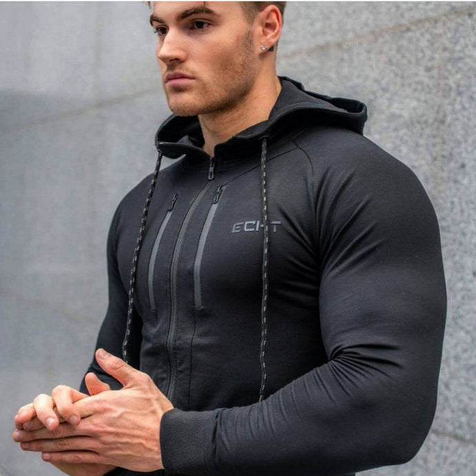 MGH6 Gyms Casual Cotton Pullover Hooded Jacket