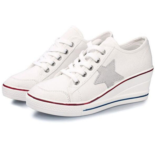 WS53 Wedges Casual Canvas Sneaker