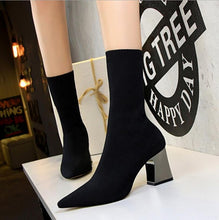 Load image into Gallery viewer, WB3 Metal Heel Socks Boots