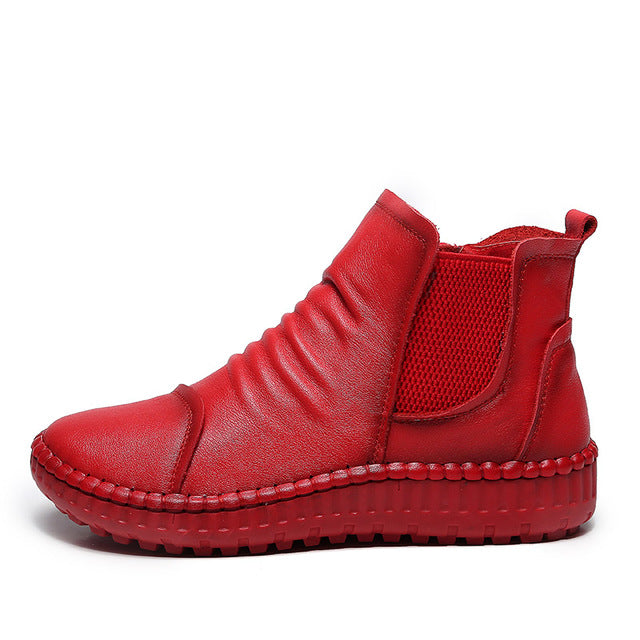 WS911 Full Grain Leather Women Boots