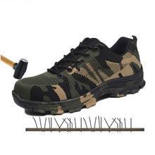 Load image into Gallery viewer, SFS11 Plus Size Steel Toe Military Style Safety Shoe