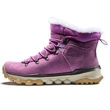 Load image into Gallery viewer, HS06 Women Waterproof Suede Leather Warm Hiking Shoes with Fur Liner