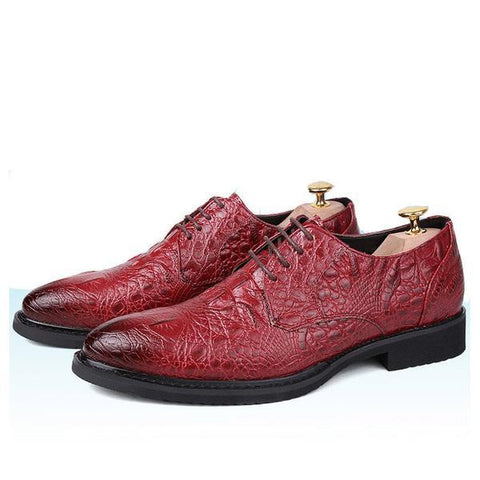 LS53 High Quality Brogue Pointed Oxford Flat Shoes Size 38-48