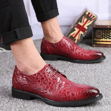 Load image into Gallery viewer, LS63 Business Crocodile Leather Shoes
