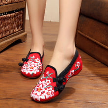 Load image into Gallery viewer, WES1 Vintage Canvas  Beijing Embroided Shoes