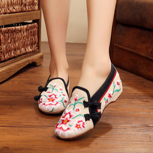WES1 Vintage Canvas  Beijing Embroided Shoes