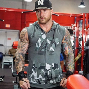 GS60 Gym Hoodie Sleeveless Vest