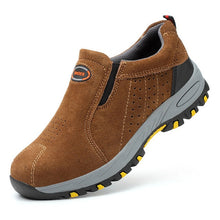 Load image into Gallery viewer, SFS300 Plus Size Cow Suede Leather Steel Toe Anti-slip Puncture Proof Safety Shoes